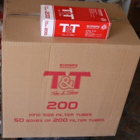 T&T TOBACCO&TUBES Filter 200 15mm Red