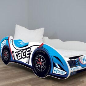 Serija Formula 1-dečiji krevet Race Car sa dušekom i letvicama