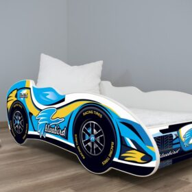 Serija Formula 1-dečiji krevet Blue Bird sa dušekom i letvicama
