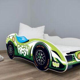 Serija Formula 1-dečiji krevet Fresh Car sa dušekom i letvicama