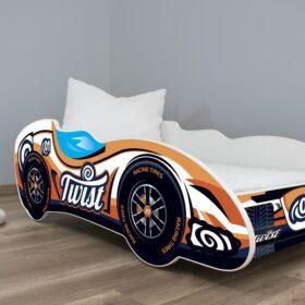 Serija F1-Twist Car Dečiji Krevet sa dušekom i letvicama