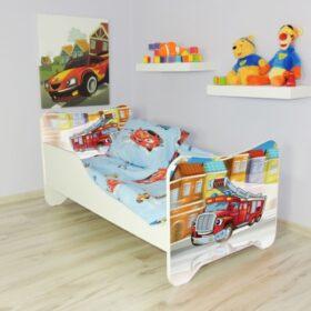 Serija Happy Kitty-Fire Truck  Dečiji krevet sa dušekom i letvicama