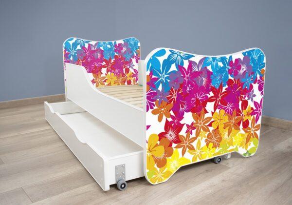 Deciji krevet sa fiokom cvece