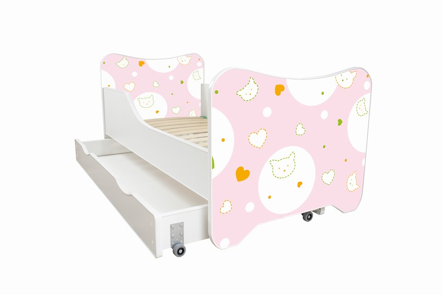 Happy Kitty deciji krevet sa fiokom