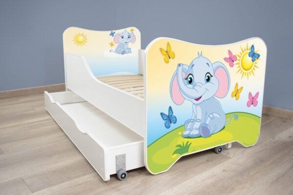 Deciji krevet sa fiokom slonce