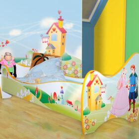 Serija Nova-New  Land Dečiji krevet sa dušekom i letvicama
