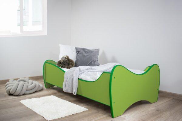 zeleni deciji krevet