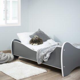 Serija Midi Pastel-Dark Grey dečiji krevet sa dušekom i letvicama