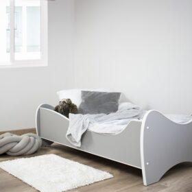 Serija Midi Pastel-Light Grey dečiji krevet sa dušekom i letvicama