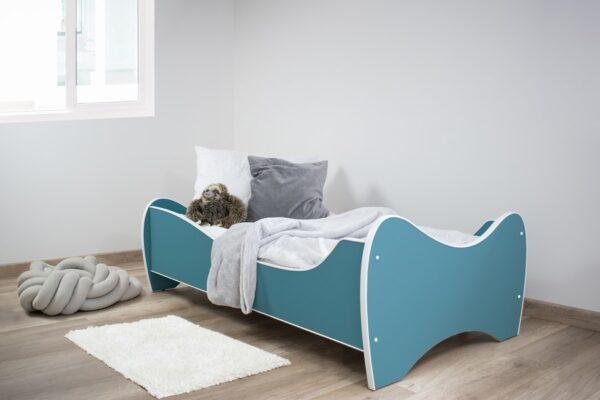 midi kolor tirkiz krevet