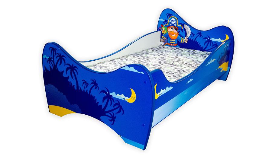 plavi gusarski deciji krevet