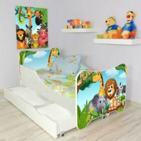 Serija HK sa fiokom-Afrika Dečiji krevet sa dušekom i letvicama