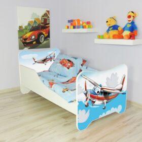 Serija Happy Kitty-Airplane  Dečiji krevet sa dušekom i letvicama