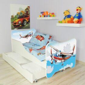 Serija HK sa fiokom-Airplane Dečiji krevet sa dušekom i letvicama