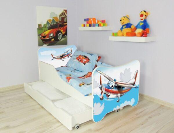 drveni krevet za decu avion