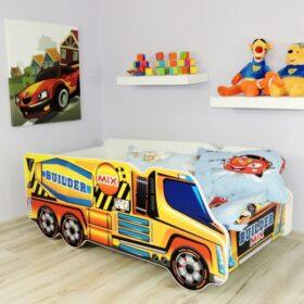 Serija Truck-Builder Track  Dečiji krevet sa dušekom i letvicama
