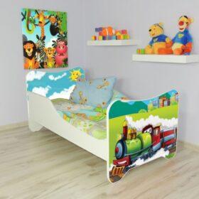 Serija Happy Kitty-Choo Choo  Dečiji krevet sa dušekom i letvicama