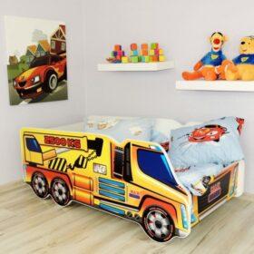Serija Truck-Crane  Dečiji krevet sa dušekom i letvicama