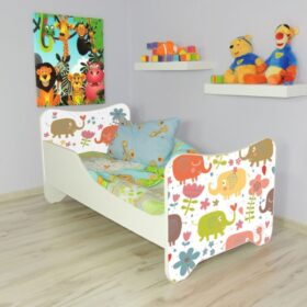 Serija Happy Kitty-Elephants  Dečiji krevet sa dušekom i letvicama