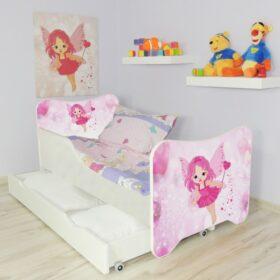 Serija HK sa fiokom-Little Fairy Dečiji krevet sa dušekom i letvicama
