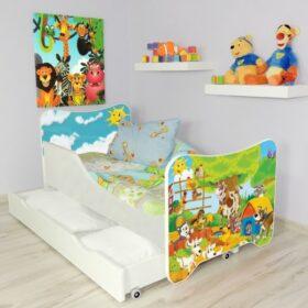 Serija HK sa fiokom-Farm Dečiji krevet sa dušekom i letvicama