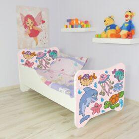 Serija Happy Kitty-Fish  Dečiji krevet sa dušekom i letvicama