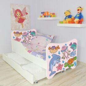 Serija HK sa fiokom-Fishes Dečiji krevet sa dušekom i letvicama