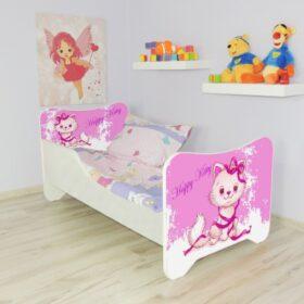 Serija Happy Kitty-Happy Kitty  Dečiji krevet sa dušekom i letvicama