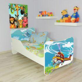 Serija Happy Kitty-Helicopter  Dečiji krevet sa dušekom i letvicama