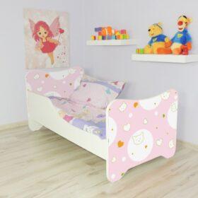 Serija Happy Kitty-Kitty  Dečiji krevet sa dušekom i letvicama