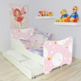 Serija HK sa fiokom-Kitty Dečiji krevet sa dušekom i letvicama