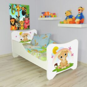 Serija Happy Kitty-Lion King  Dečiji krevet sa dušekom i letvicama