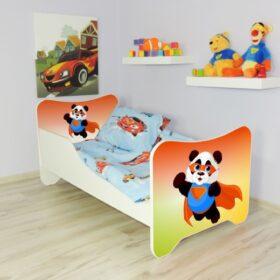 Serija Happy Kitty-Super Panda  Dečiji krevet sa dušekom i letvicama