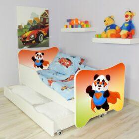 Serija HK sa fiokom-Super Panda Dečiji krevet sa dušekom i letvicama