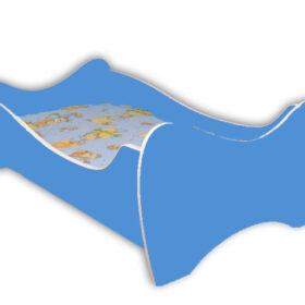 Serija Midi Colour-Blue Dečiji krevet sa dušekom i letvicama