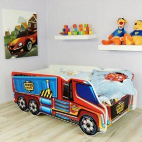 Serija Truck-Power Truck  Dečiji krevet sa dušekom i letvicama