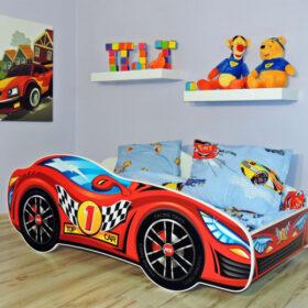 Serija Racing Car-Red  Dečiji krevet sa dušekom i letvicama