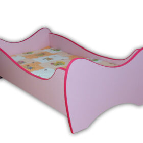 Serija Midi Colour-Pink Dečiji krevet sa dušekom i letvicama
