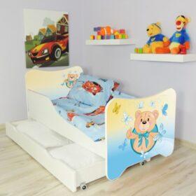 Serija HK sa fiokom-Small Teddy Dečiji krevet sa dušekom i letvicama