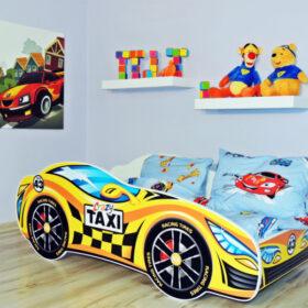 Serija Racing Car-Taxi  Dečiji krevet sa dušekom i letvicama
