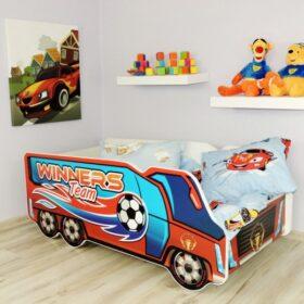 Serija Truck-Winners Team  Dečiji krevet sa dušekom i letvicama