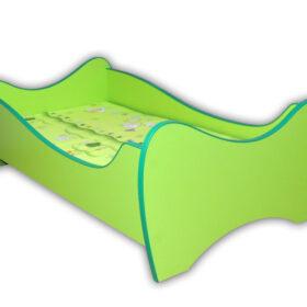Serija Midi Colour-Green Dečiji krevet sa dušekom i letvicama