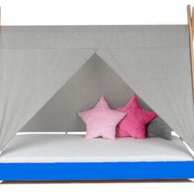 Krevet Bella Luni-Model Tipi sa nadstrešnicom i dušekom-svetloplavi