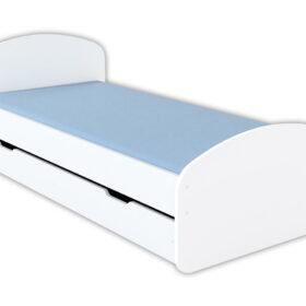 Krevet Luna  200x90cm sa fiokom i dušekom-beli