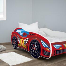 Serija Racing Car-Top Car dečiji krevet sa dušekom i letvicama