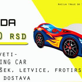 AKCIJA Racing Car kreveti 140x70