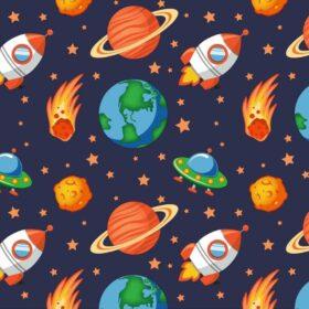 Set posteljina-navlaka i jastučnica-svemir